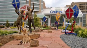 I got to go visit so many children at OU Children's Hospital in Oklahoma City!  I was so happy to give them comfort and smiles!