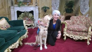 I met this nice lady for a TV interview!