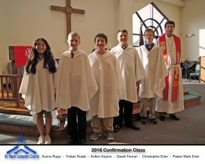 Confirmation class 2016